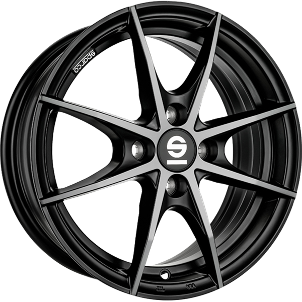 Sparco Trofeo 4 Black Polished 6,00x14 4x100,00 ET35,00